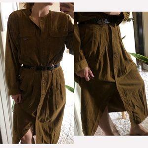 corduroy vintage Liz Claiborne Sport button dress